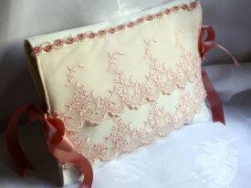 pochette a lingerie romantique ivoire tulle brodé