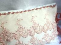 pochette a lingerie romantique ivoire tulle brodé  4