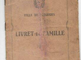 Livret de famille 1927