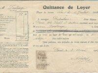 timbre fiscal 10 centimes quittance de loyer 1912 1
