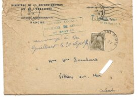 FRANCE TIMBRE TAXE N°78 sur enveloppe