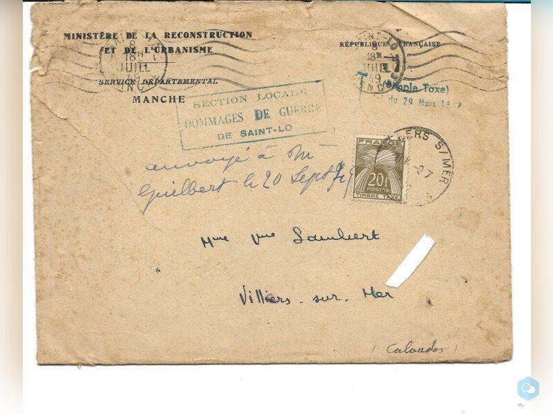 FRANCE TIMBRE TAXE N°78 sur enveloppe 1