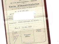 CARTE D'IMMATRICULATION de 1964  1