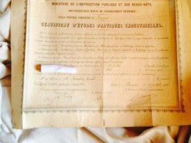 Certificat d'études pratiques  industrielles 1924