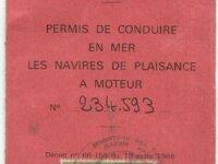 Timbre fiscal 100 frans permis de conduire en mer 1