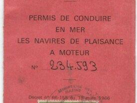 Timbre fiscal 100 frans permis de conduire en mer