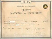 Brevet de secouriste 1969 1