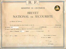 Brevet de secouriste 1969