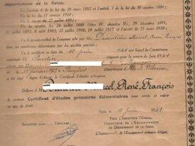 certificat d'études primaires 1941