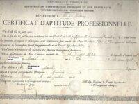 Certificat d'étude professionnelle 1924 1
