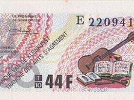 Billet de Loterie, année 1987