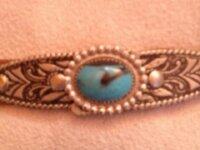 ceinture vintage 5 - cuir turquoise 2