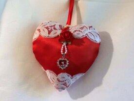 coeur bijou dentelle de calais ancienne perles sat