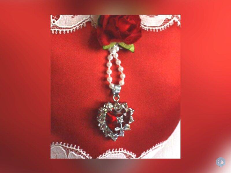 coeur bijou dentelle de calais ancienne perles sat 2