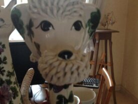 Caniche géant porcelaine Italie
