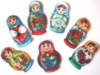 lot 7 patch thermocollant poupées russes anciennes 1