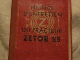 livre de bord ZETOR 25