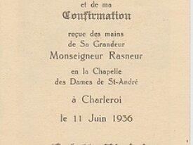 Colette Manjois, communion