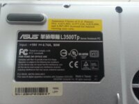Notebook Toshiba SA60-185 / ASUS L3500TP 3