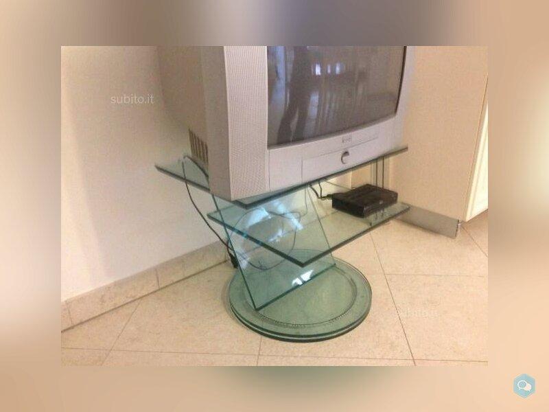 Porta TV in cristallo girevole 3