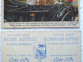 Chromos, Côte D'Or, Reine Astrid, série 2