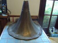 grand pavillon de phono laiton a restaurer 1