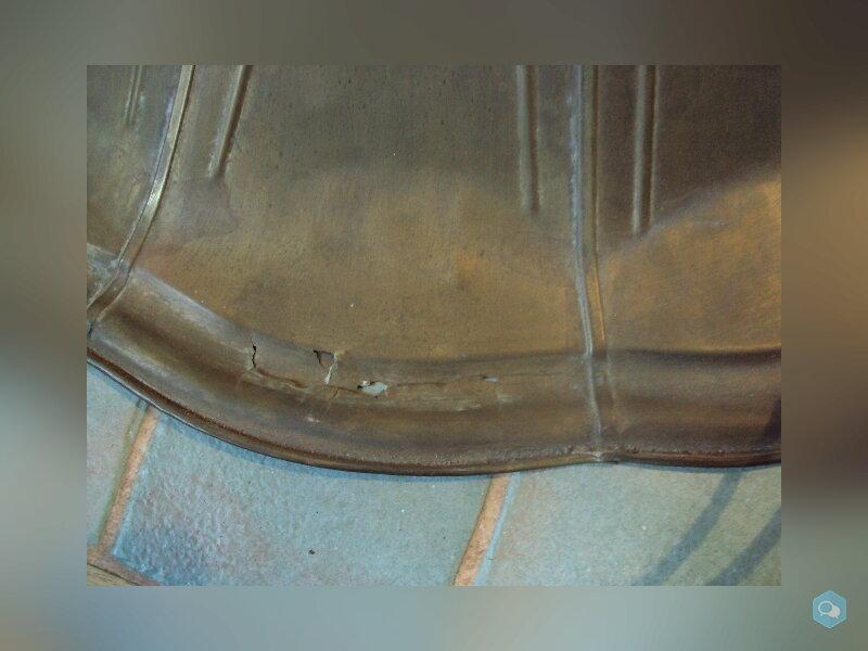 grand pavillon de phono laiton a restaurer 2