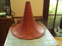 grand pavillon de phono tôle peinte rouge 1