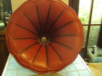 grand pavillon de phono tôle peinte rouge 2