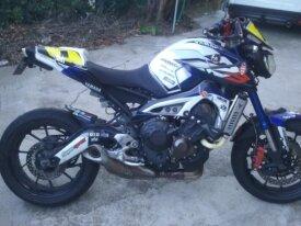 mt 09 moto tour vendue à yam juan