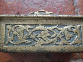 Ancien cendrier pivotant en bronze pour automobile