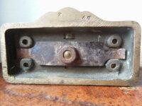 Ancien cendrier pivotant en bronze pour automobile 3