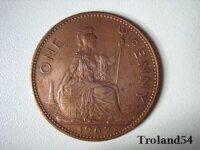 Royaume Uni One penny 1967 1