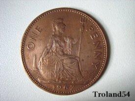 Royaume Uni One penny 1967