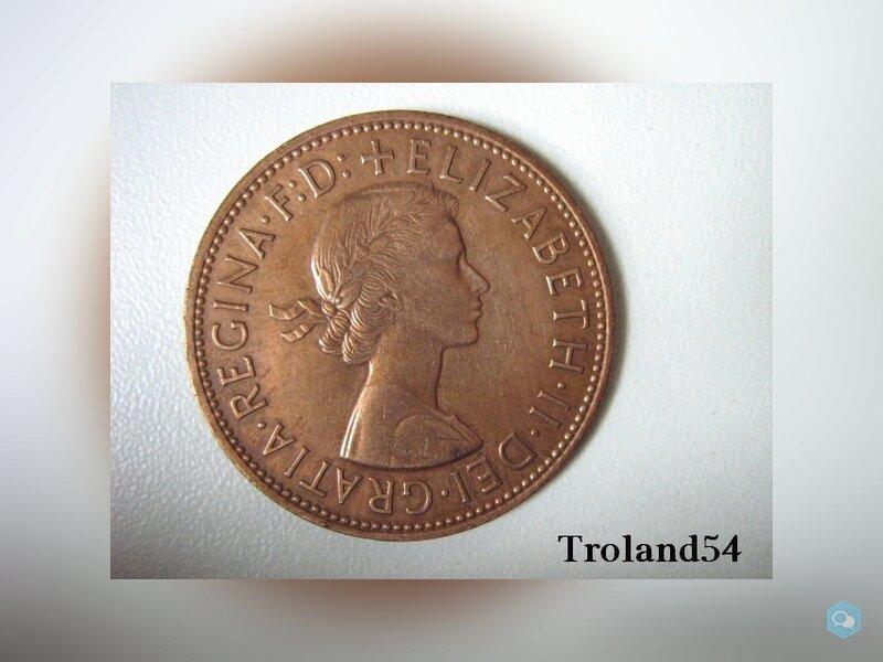 Royaume Uni One penny 1967 2