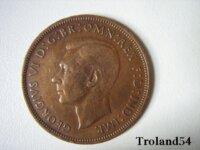 Royaume Uni, One penny 1946 2