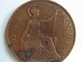 Royaume Uni One penny 1929