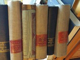 6 volumes du Bulletin officiel marine