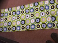 T2 Campervan curtains in Retro green circles 1