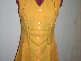 blouse nylon femme  sans manche orange