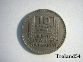 France, 10 Francs, année 1948