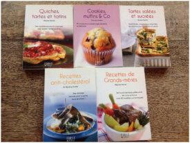 Lot 5 petits livres recettes