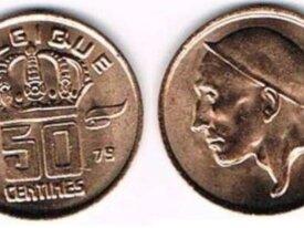 BAUDOUIN 50 CENTIMES TYPE MINEUR 1979 FR NEUVE