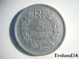 France, 5 Francs alu 1945