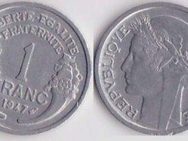 FRANCE 1 FRANC MORLON ANNEE 1947