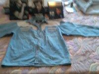 Chemise JOHNNY HALLIDAY en jean à clous et cuir  2