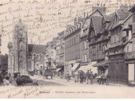 (76) cpa -elbeuf -vieilles maisons rue saint jean