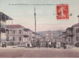 (42) cpa -saint etienne - intérieur des hospices