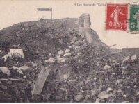 (62)FRANCE CPA-LENS - les restes de l'eglise -1920 1