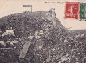(62)FRANCE CPA-LENS - les restes de l'eglise -1920